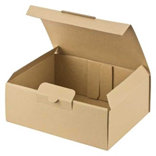 100 Stk. Warensendung Versandkarton LARGE, 200x150x74mm, braun / Portooptimiert für Warensendung Maxi + und Büchersendung (D) und Großbrief + Großbrief International (A)