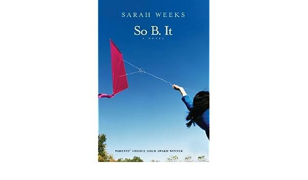So b it ebook sarah weeks amazon kindle store fandeluxe Document