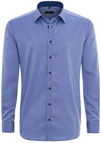 Eterna - Modern Fit - Herren Langarm Hemd mit Kent Kragen, Bügelfrei (8464 X14P-68 cm) Blau (19)