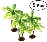 Tinksky 5 Pcs En Plastique Cocotier Palmier Miniature Plante Pots Bonsaï Artisanat...