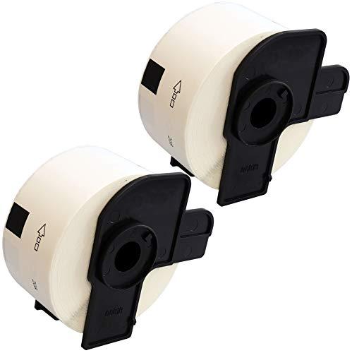 2 x DK11208 Adressetiketten (400 Label pro Rolle) kompatibel zu Brother QL-500 QL-550 QL-560 QL-570 QL-580N QL-700 QL-720NW QL-800 QL-810W QL-1050 QL-1060N Etikettendrucker, Papier weiß (38mm x 90mm)