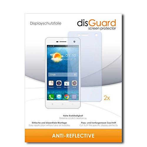 disGuard® Bildschirmschutzfolie [Anti-Reflex] kompatibel mit Oppo Mirror 3 [2 Stück] Entspiegelnd, Matt, Antireflektierend, Extrem Kratzfest, Anti-Fingerabdruck - Panzerglas Folie, Schutzfolie