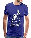 Derbysieger Gelsenkirchen Schalke Dortmund Männer Premium T-Shirt, XL, Königsblau