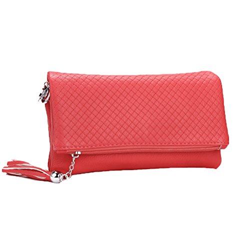 nappa Red pelle in in donne scomparti Borsa a con le zip spalla pelle Solft vera Donalworld dicono da 3 ICwqZUnEX