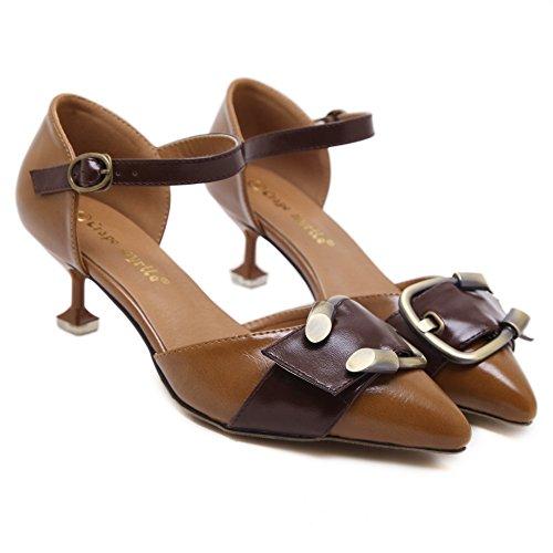 Unknown 1to9mmsg00337 - Sandales Compensées Marron Pour Femme