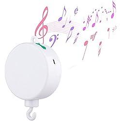 Música Bebé, VOSMEP Mobile Baby Music Box con TF Tarjeta Nueva Versión Juguetes con Pilas para Bebé Cuna Canción Hipnótica SH036