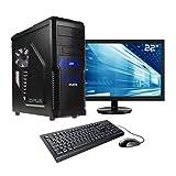 Sedatech Pack PC Gamer Casual AMD A8-9600 4X 3.1Ghz, Radeon R7 Series, 8 Go RAM DDR4, 1 to HDD, WiFi, CardReader, Moniteur 21.5', Win 10