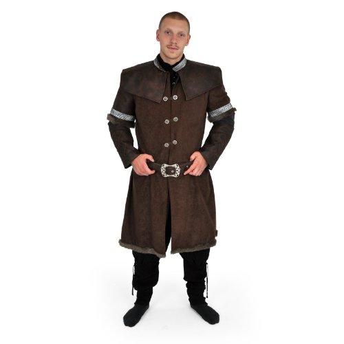 Zwergenmantel mit Gürtel, Deluxe Kostüm, ideal zum Hobbit-Filmstart oder Karneval, Thorin Eichenschild Kostüm - (Thorin Eichenschild Kostüm)