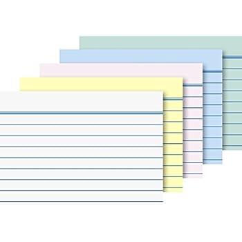 Brunnen Karteikarten A8 Quer 180 g//qm liniert 400 St/ück, blau