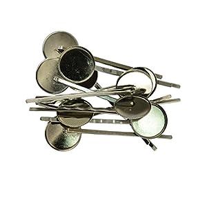 Sharplace Haarspangen Haarklammern DIY Haarclips mit Klebeplatte für Frauen – 10 Stücke