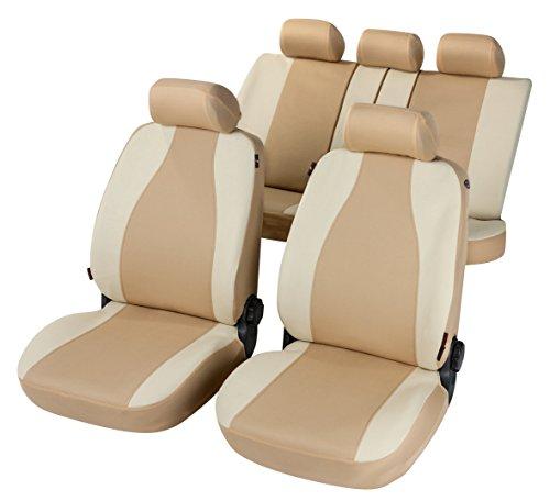 RMG R31V322 coprisedili per YARIS fodere auto colore beige chiaro e scuro compatibili con sedili con airbag braciolo e sedili sdoppiabili