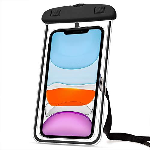 Marvorem Funda Impermeable Compatible con Xiaomi Mi A2 Lite acuatica Sumergible estanca Certificado IPX8 Bolsa Resistente al Agua Waterproof Case (Negra)