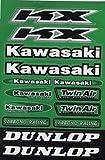 Kawasaki Aufkleber Tabelle klein