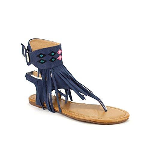 Cendriyon, Tong Blue ATYPIQUA MODA Chaussures Femme Bleu