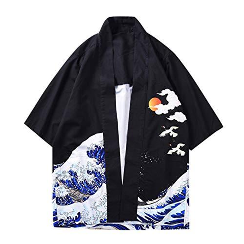 Zackate Kimono japonés Unisex Estampado Frontal Abierto