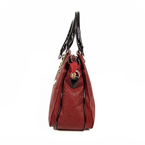 Tasche Damentasche Handtasche Luxus Taymir Detailprägung 2 Jahre Garantie Creme-Braun