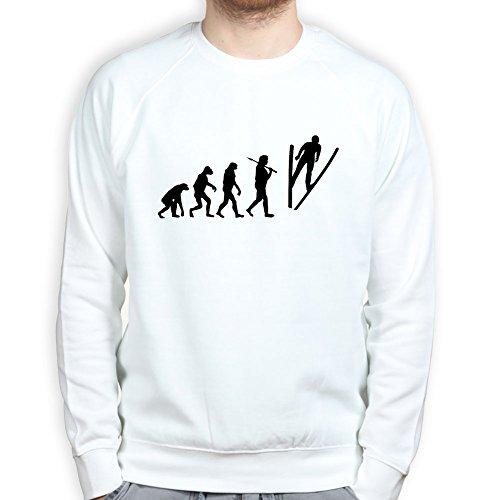 EvolutionofSkiJumpSkiingSweatshirtWHT3XL XXXL White