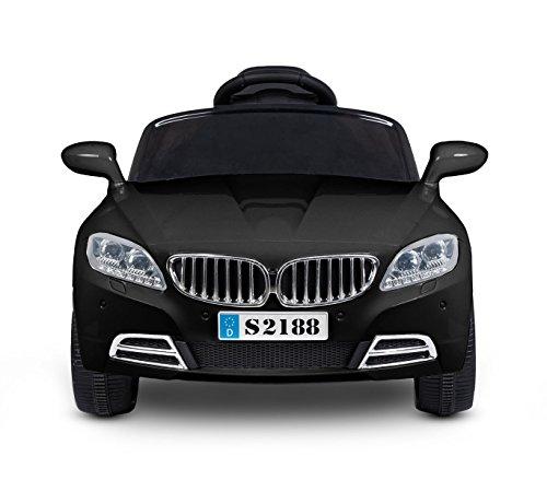 LT861 Coche eléctrico para niños Crazy puertas automáticas y 3 velocidades - Negro