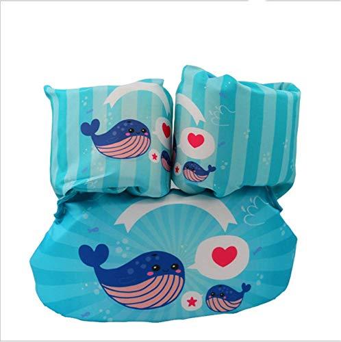 FDGT Blaue Wal-Kinder Schwimmen Arm-Kreis Kleinkind-Baby-Schwimmanlage Schwimmen Kreis Blase Mu Sleeves Schwimmweste