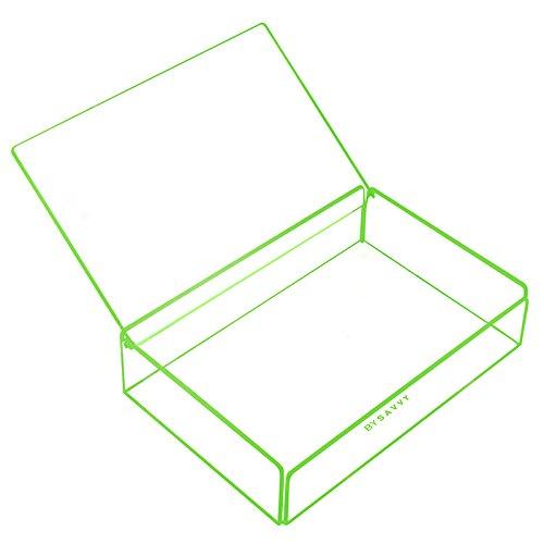Grande boite de rangement verte pour rangement empilable, organisateur ou décoratif de Savvy Trays