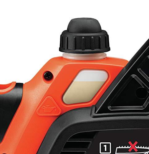 Black+Decker Li Ion Akku-Kettensäge 18V GKC1825L20 mit Akku und Ladegerät / Ideal für Holz- & Gartenarbeiten / 25 cm Schwertlänge - 12