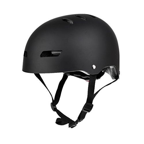 Homyl Herren Damen Wassersporthelm Schutz Helm für Kajakfahren Mountainbiken Wassersport - Matt Schwarz
