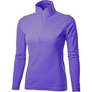Spyder Women's Shimmer Bug T Neck Baselayer - Blue, Size 8