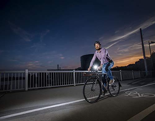 Sigma Sport LED Batterie Fahrradbeleuchtung AURA 25/CUBIC SET, 25 LUX/400 m Sichtbarkeit, batteriebetriebene Fahrradlampe + Rücklicht, StVZO zugelassen, Schwarz - 3