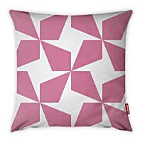 Mon Desire Decorative Throw Pillow Cover, Pink/White, 44 x 44 cm, MDSYST2469