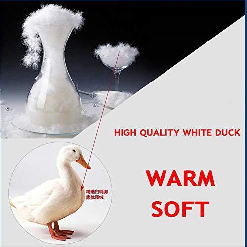 MAZF Winter Warme Lange Daunenjacke Mit Kapuze Pelzkragen Weiße Ente Daunenmantel Plus Grün M - 2