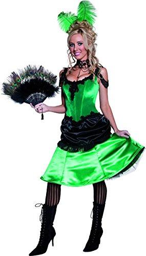 Smiffys 36158M authentisches Western-Saloon-Girl-Kostüm, M, grün
