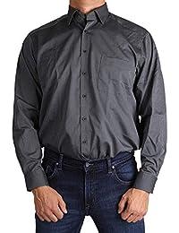MARVELiS-Hemd 7005-24-68 COMFORT-FIT schwarz langarm