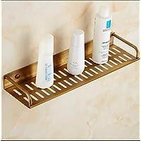 Bathroom Shelf Single Layer Brass Shower Storage Wall Mount Shelf, 40 cm