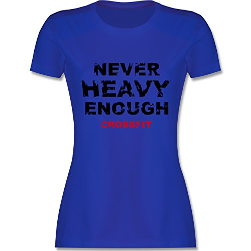 CrossFit & Workout - Never heavy enough CrossFit - tailliertes Premium T-Shirt mit Rundhalsausschnitt für Damen Royalblau