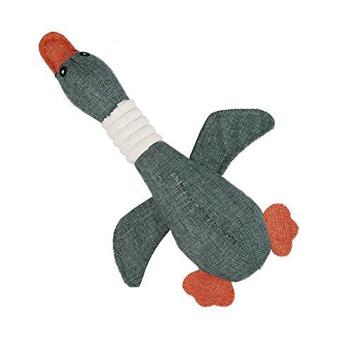 Vivifying Quietschspielzeug für Hunde, 32cm Wilde Gans Gestalten Ausgestopft Haustier Spielzeug für Welpen, Kleine und Mittlere Hunde (Dunkelgrün) Hund Ausgestopfte Tiere Spielzeug