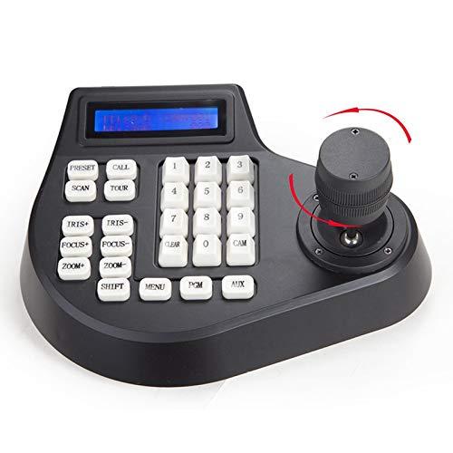 XZANTE 3D Coaxial CCTV Tastatur Controller LCD 1,5 Km Joystick Rs485 Ptz Speed Dome Kamera Halterung Für Pelco Ad Protokoll (Eu Stecker) Speed-dome-controller