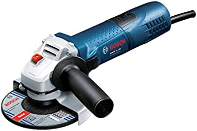 Bosch GWS 7-125 Professional - Amoladora angular (720 W, 11000 rpm, 125 mm), color azul