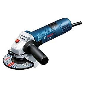 Bosch Professional GWS 7-125 Winkelschleifer (125 mm Scheiben-Ø, 720 W, Zusatzhandgriff, Schutzhaube, Zweilochschlüssel) 0601388102