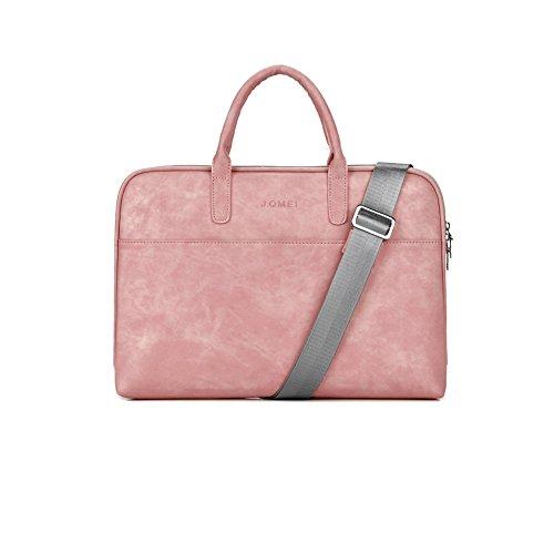 Zetiy Sac à bandoulière Sacoche Housse Pochette pour Ordinateurs Portables (15 pouces, Rose)