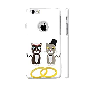 Colorpur iPhone 6 / 6s Logo Cut Cover - Wedding Cats With Rings Printed Back Case