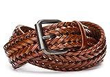 Availcx Cinture a vita da uomo in pelle spaccata Cintura da uomo intrecciata a mano in pelle intrecciata a mano per uomo