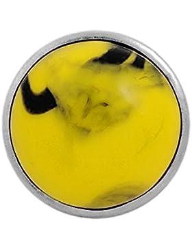 Andante Marmor CHUNK Click-Button Druckknopf (Gelb) für Chunk-Armbänder, Chunk-Ringe und andere Chunk-Accessoires