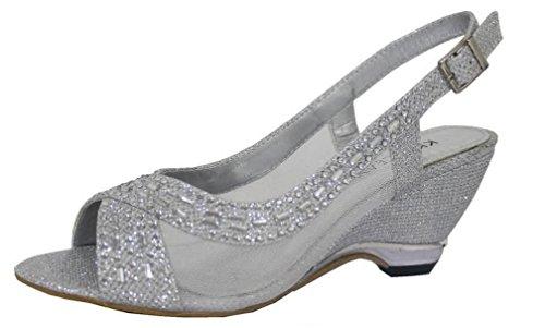 Krasceva , Peep-Toe femme silver