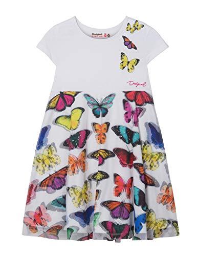 Desigual Mädchen Girl Knit Dress Sleeveless (Vest_YAMENA) Kleid, Weiß (White 1000), 140 (Herstellergröße: 9/10)