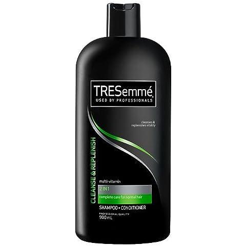 TRESemmé Cleanse e rinnovare 2-in-1Shampoo Plus d' aria 900ml, confezione