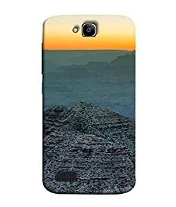 Snapdilla Designer Back Case Cover for Huawei Honor Holly (Brown Sunrise Himalayas Beauty Wallpaper)