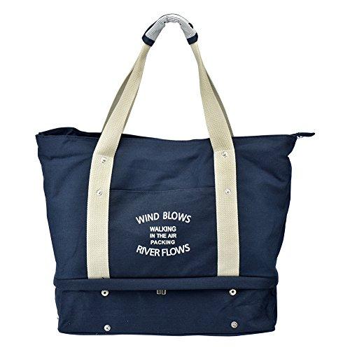 Umhängetasche Tour Handtasche Einkaufstaschen Wasserdichte Reisetasche Große Kapazität ourismus Aufnahme (blau)