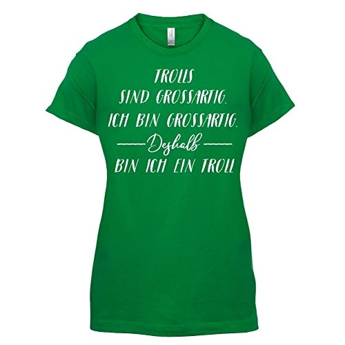 Ich Bin Grossartig Trolls Damen TShirt 14 Farben Grün -hurotherm.eu cb34e19f05