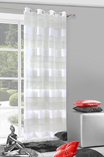 Eurofirany ZAS/Sonia/Turk, Tenda con Occhielli, Modello Sonia, 140 x 250 cm
