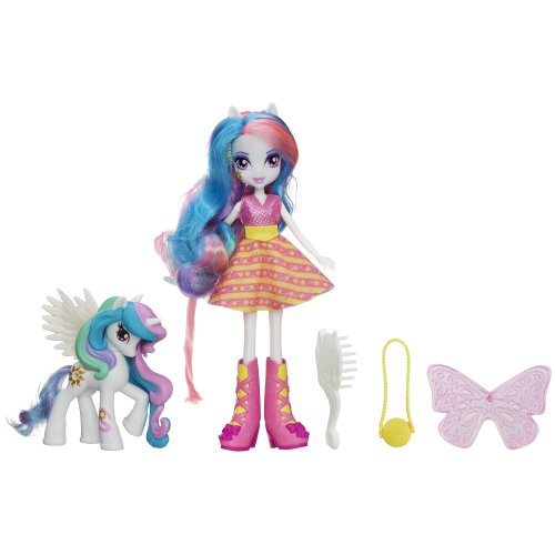 Little My High Pony Canterlot (My Little Pony Equestria Girls Celestia Puppe und Pony Set)
